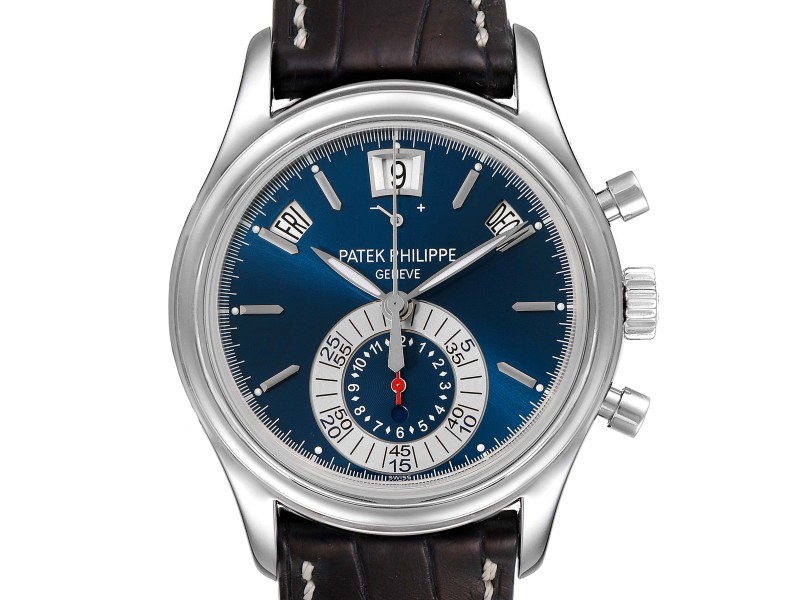 Patek Philippe Complications Annual Calendar White Gold Watch 5960 Box Papers