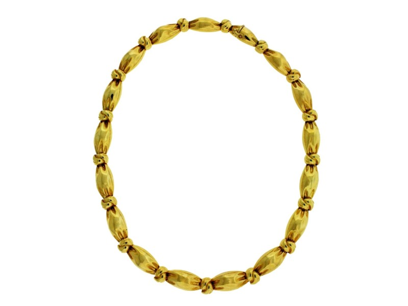 Van Cleef & Arpels 18K Yellow Gold Choker Necklace