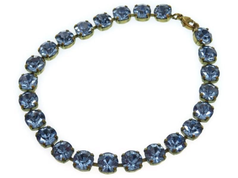 Chanel Gold Tone Hardware with Rhinestone Blur Scrapes Bracelet