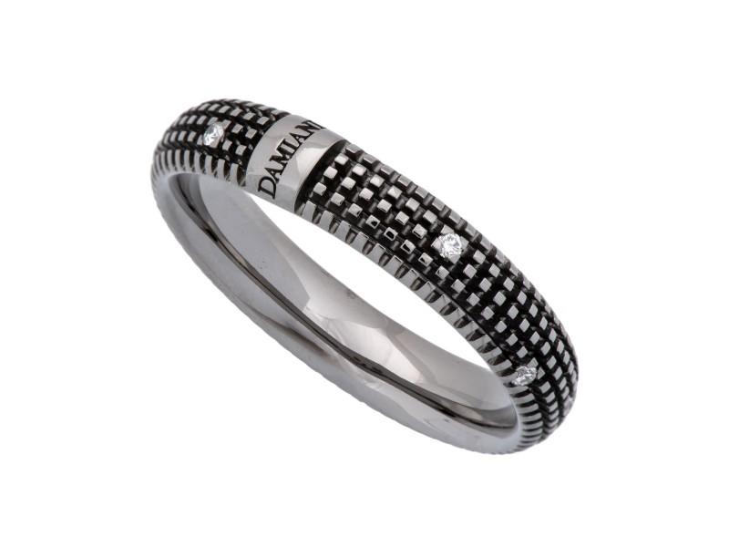 Damiani 18K White Gold Diamond Ring Size 10.5