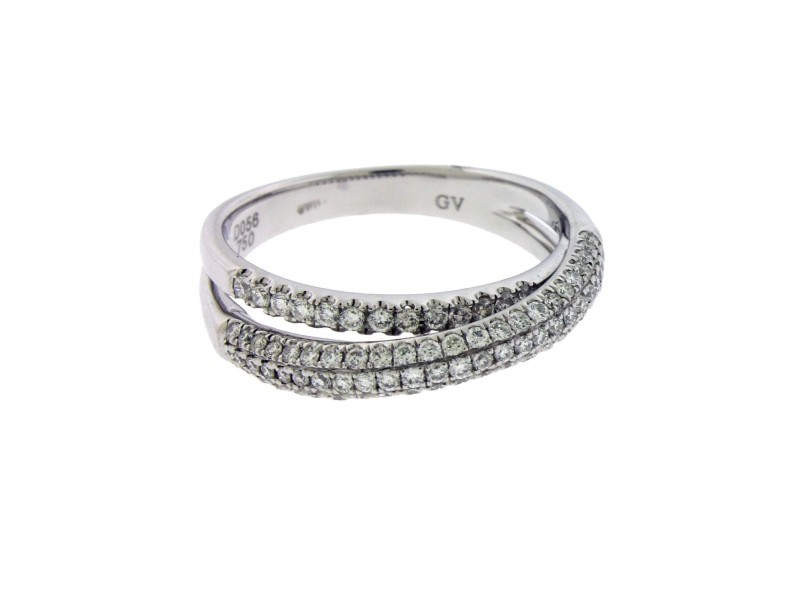 Giorgio Visconti 18K White Gold Diamond Ring Size 6.5