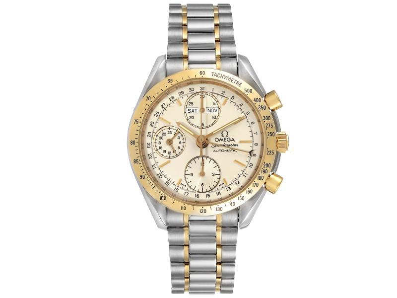 Omega Speedmaster Triple Date Steel Yellow Gold Mens Watch 3321.30.00