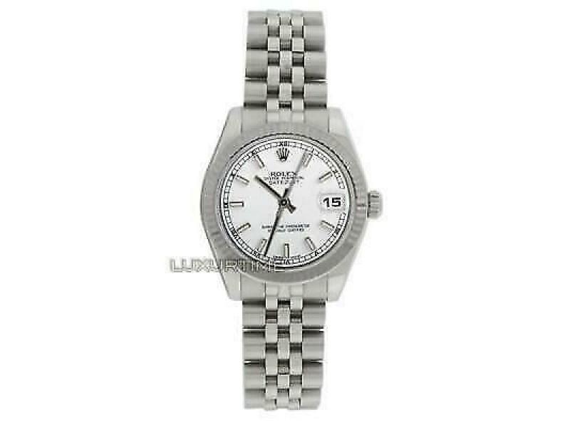 Rolex Datejust 31mm 178274 Women's White White Gold 31mm 1 Year Warranty