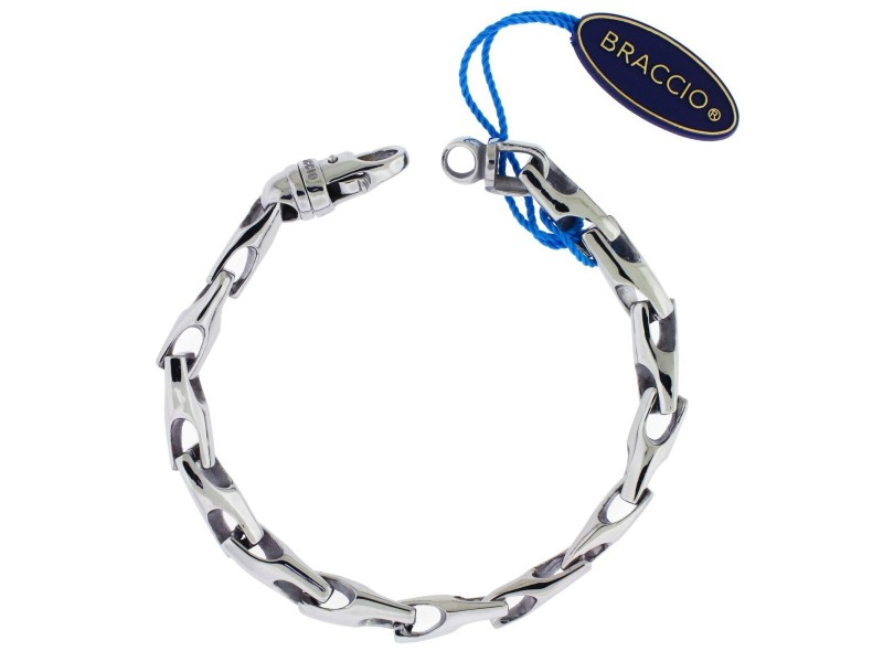 Braccio SS3881 Men's bracelet in Stainless Steel 8.5 inches long