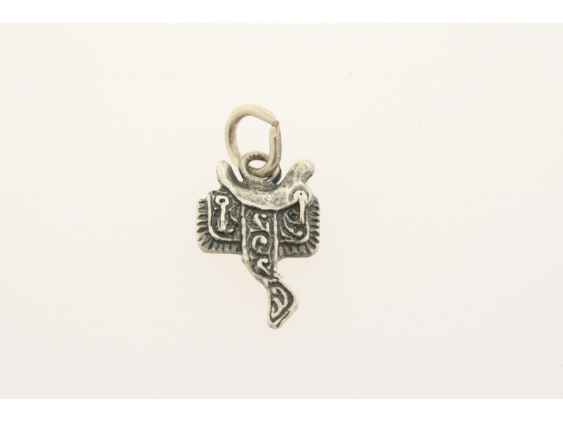 Vintage Sterling Silver Charm Side View Saddle