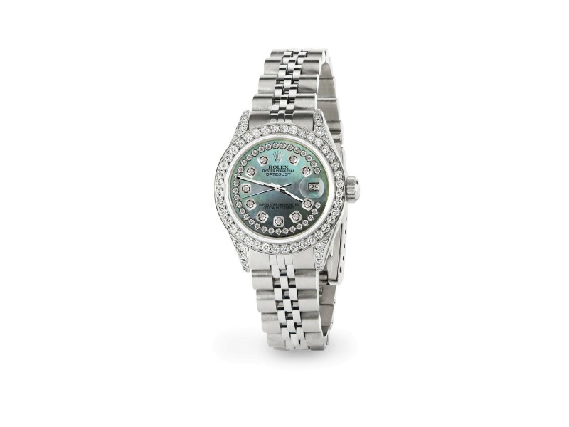 Rolex Datejust 26mm Steel Jubilee Diamond Watch with Natural Pearl (Light) Dial