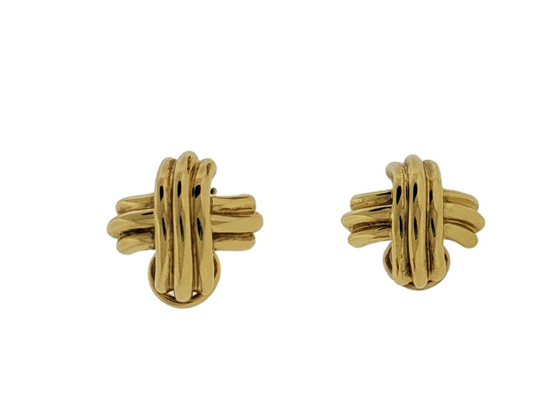 Tiffany & Co Signature X earrings in 18k yellow gold