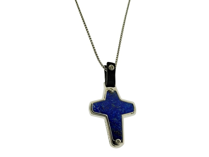 Stephen Webster England Made Me lapis Cross necklace pendant Unisex