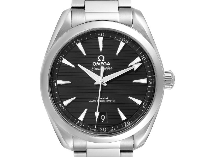 Omega Seamaster Aqua Terra Black Dial Watch 220.10.41.21.01.001 Box Card