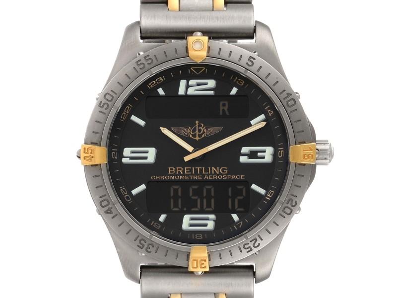 Breitling Aerospace Advantage Titanium Perpetual Alarm Watch F75362 Papers