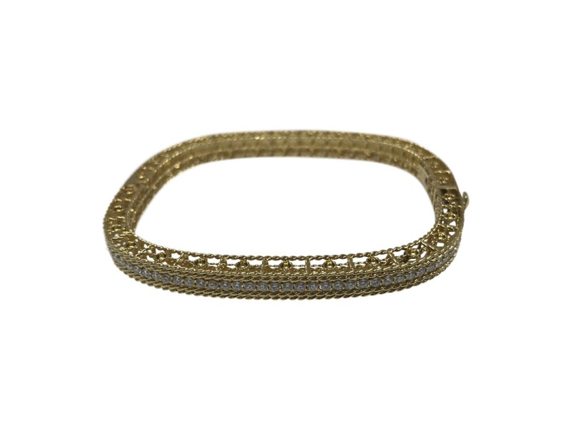 Roberto Coin 18K Yellow Gold with 1ct. Diamond Bangle Bracelet