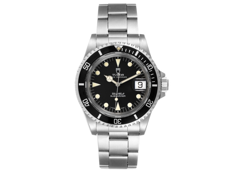 Tudor Submariner Prince Oysterdate Steel Mens Watch 79090 Box Papers