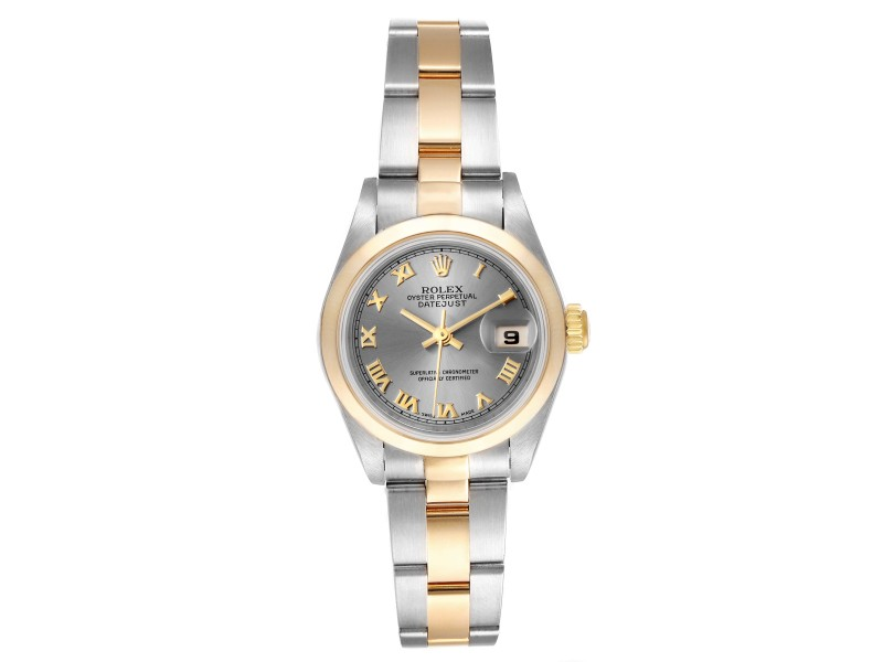 Rolex Datejust Steel Yellow Gold Slate Dial Ladies Watch
