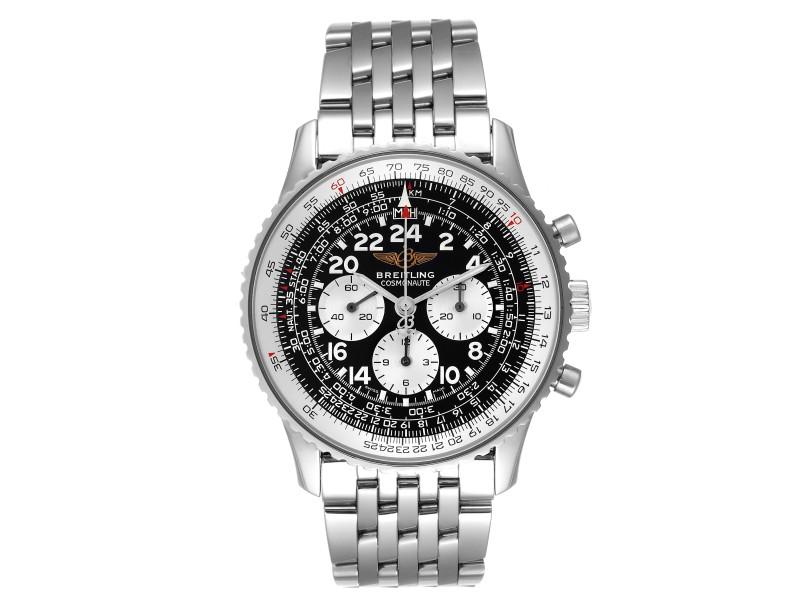 Breitling Navitimer Cosmonaute Black Dial Chronograph Mens Watch A12322