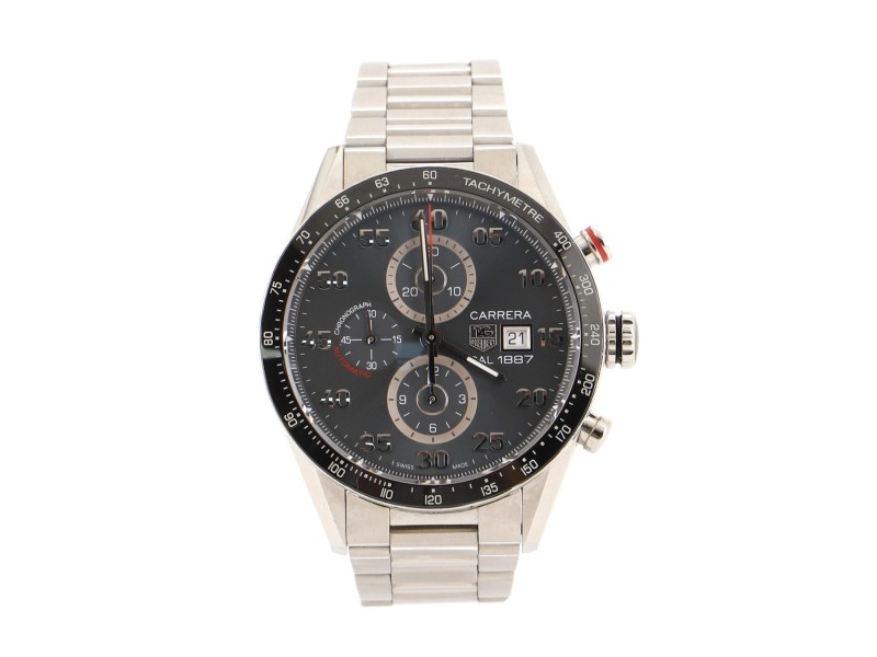 Tag Heuer Carrera Calibre 1887 Chronograph Automatic Watch Stainless Steel 44