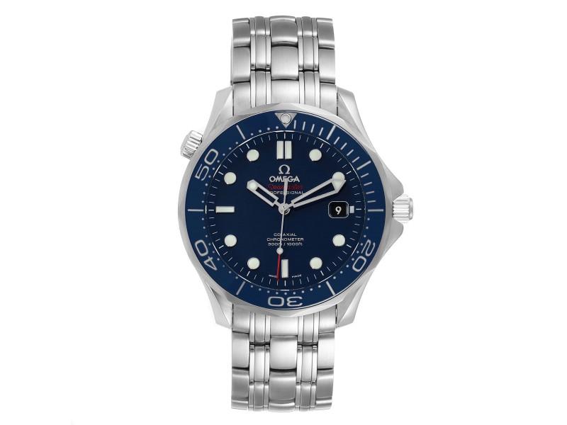 Omega Seamaster Diver Co-Axial Mens Watch 212.30.41.20.03.001 Box Card