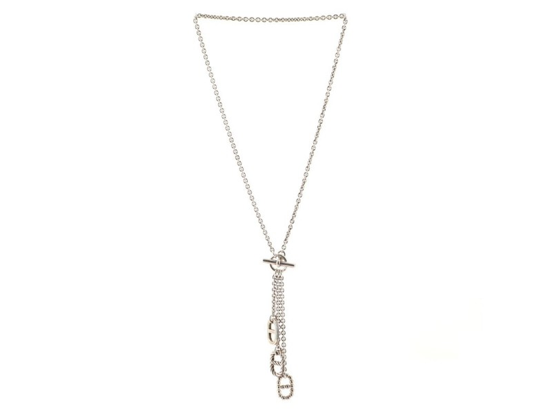Hermes Chaine d'Ancre Parade Lariat Necklace Sterling Silver