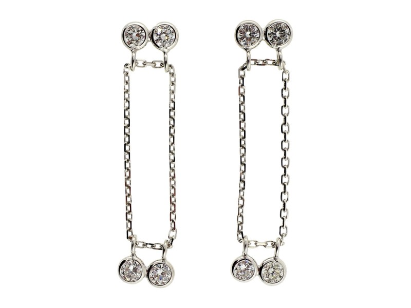 Peter Suchy 14K White Gold with 0.65ct Diamond Earrings