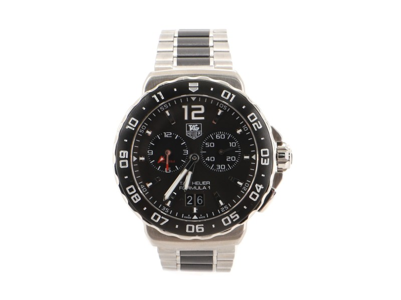 Tag Heuer Formula 1 Chronograph Quartz Watch Stainless Steel and Ceramic 42