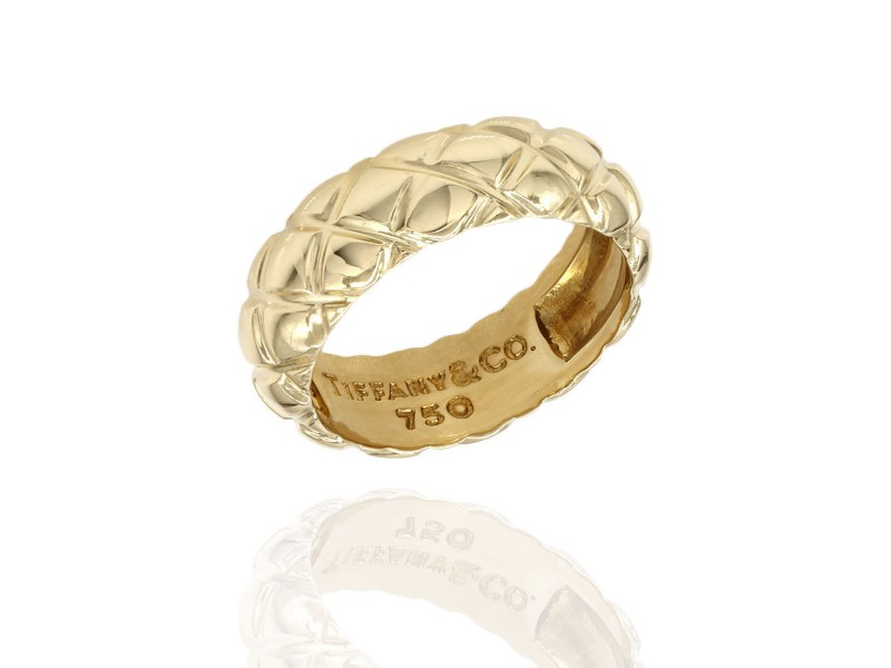Tiffany & Co. 18K Yellow Gold Band Ring Size 5