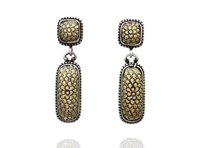 John Hardy Sterling 18K Yellow Gold, Sterling Silver Earrings