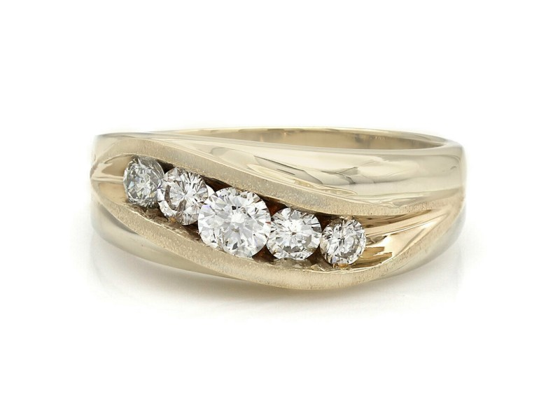 Gentlemans 14K 5 Stone Diamond Ring