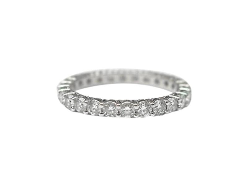 Tiffany & Co. Platinum Full Circle Diamond Eternity Band Ring