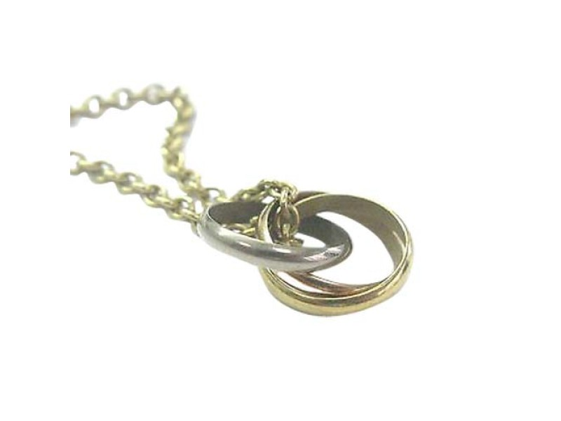 Cartier Trinity Necklace 18K White Yellow & Rose Gold