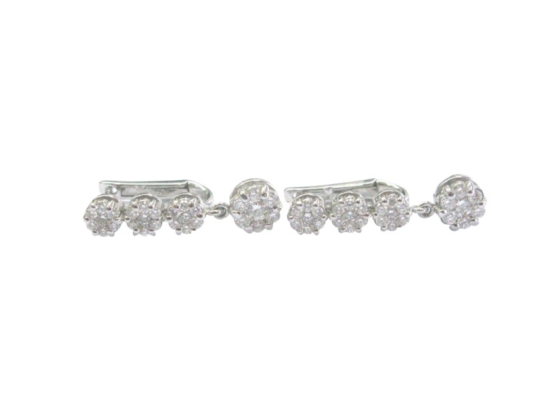 Ball 18K White Gold Diamond Earrings