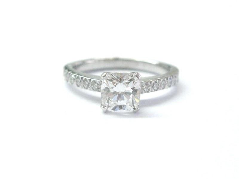 Tiffany & Co Platinum Novo 0.88ct Diamond Engagement Ring