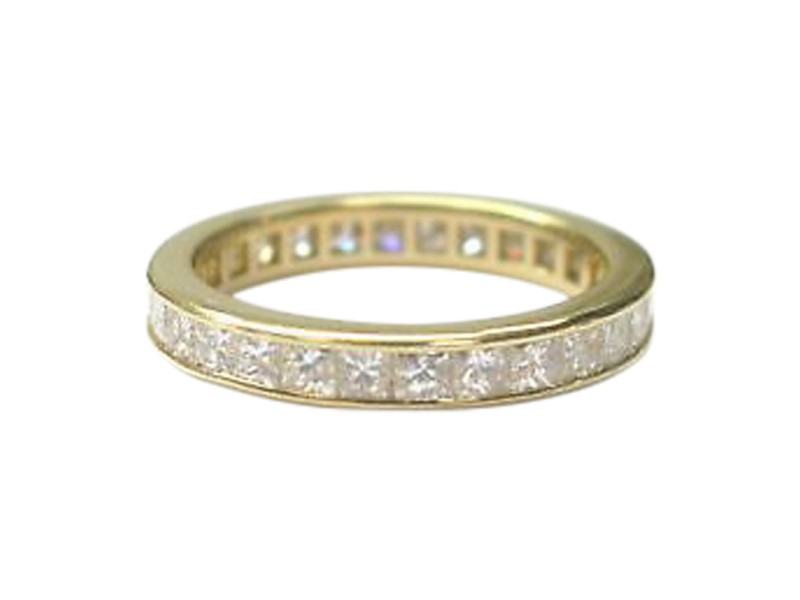 Tiffany & Co. 18K Yellow Gold with 1.87ct Diamond Eternity Band Ring Size 6