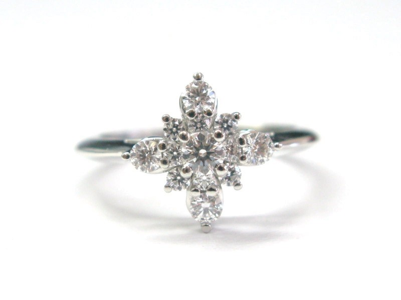 Tiffany & Co. Platinum Starburst Diamond Ring
