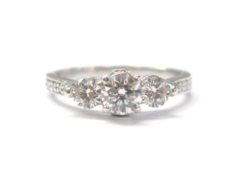 Platinum Diamond Womens Engagement Ring Size 7