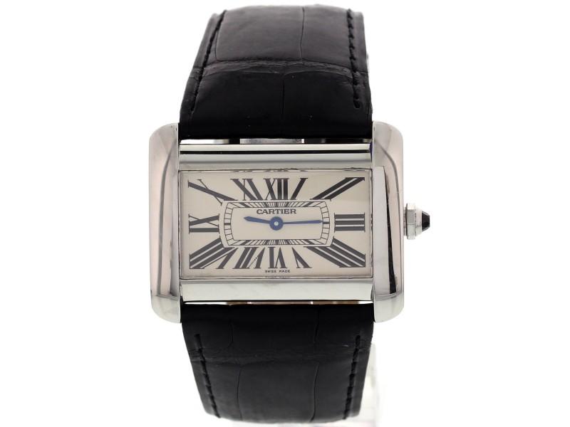 Cartier Tank Divan 2600 Stainless Steel Watch