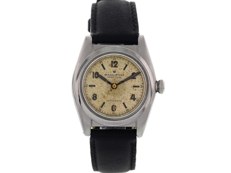 Rolex Oyster Perpetual Bubble Back 2940 Vintage Stainless Steel Men's Watch