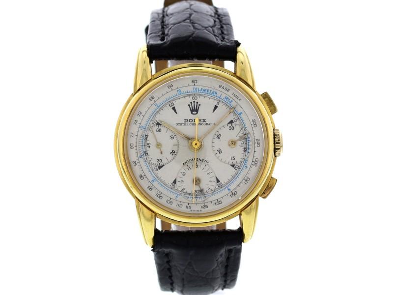 Rolex 4313 Men's Vintage 18K Gold Anti-Magnetic Chronograph Watch