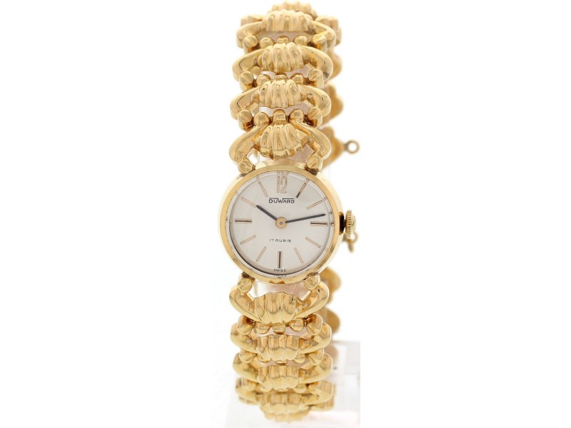 Duward 18K Rose Gold  Hand Winding Vintage Ladies Watch