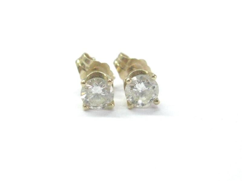 14K Yellow Gold & 0.66ct Diamond Stud Earrings