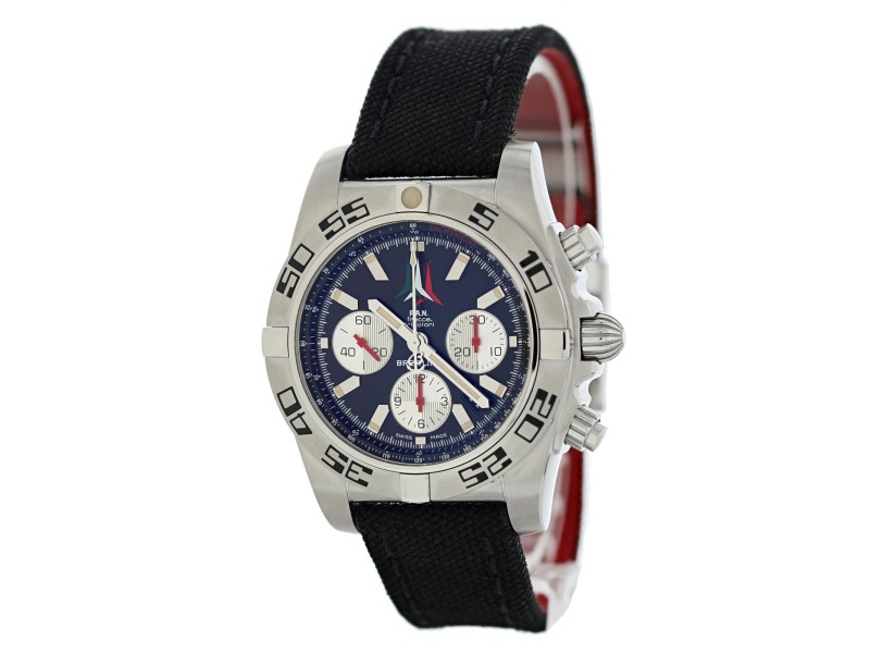 Breitling Chronomat 01 AB0110 P.A.N  Frecce Tricolore  Mens Watch Box Papers