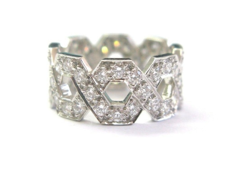 Tiffany & Co Platinum Hexagon Diamond Ring Size  7 1.20CT