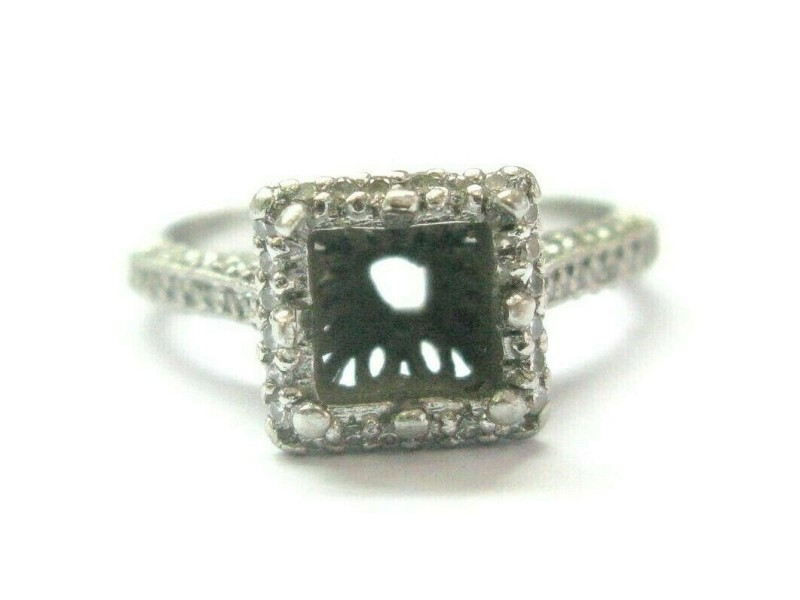 Tacori Diamond Semi Mount Ring Platinum 950 Size 5