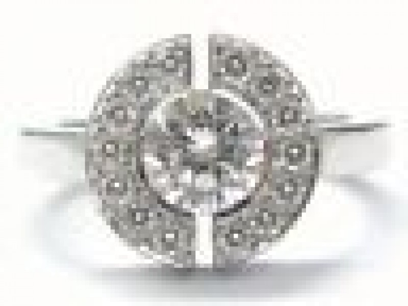 Chanel 18KT  NATURAL Round Cut Diamond Engagement Jewelry Ring Style #J1501