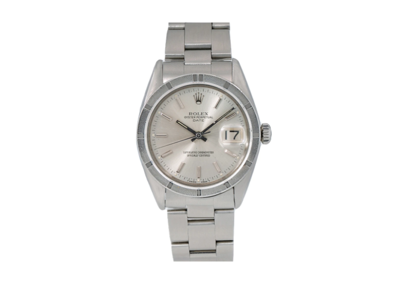 ROLEX OYSTER PERPETUAL DATE WATCH 1501 34MM STAINLESS STEEL OYSTER BAND