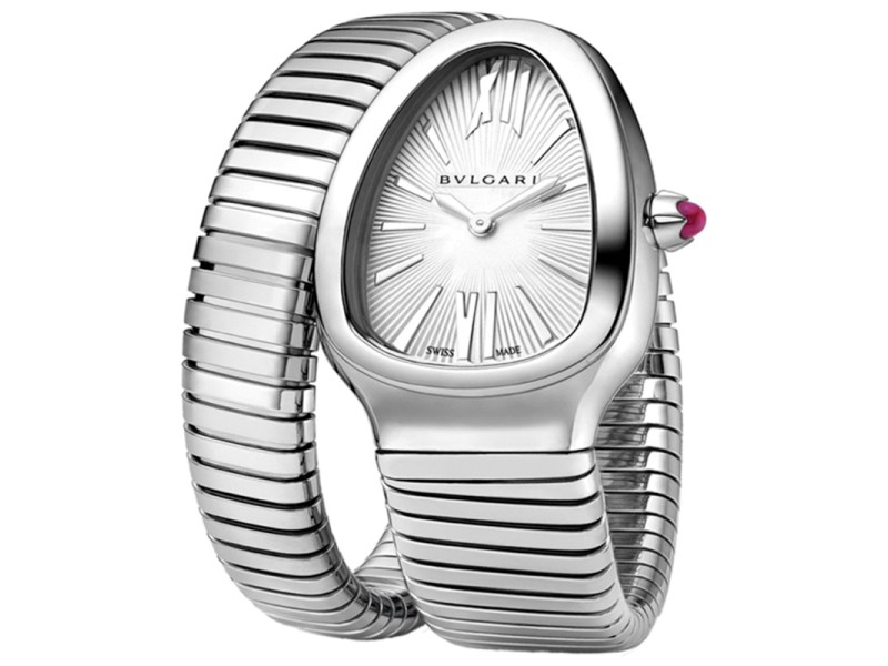 Bulgari Serpenti Steel Tubogas Quartz Ladies Watch SP35C6SS.1T