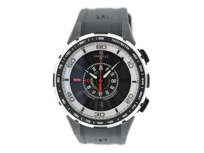 Perrelet Turbine A1075/1 Stainless Steel & Rubber Automatic 48mm Mens Watch