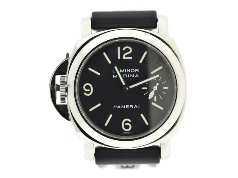 Panerai Luminor Marina PAM22 Stainless Steel & Rubber Manual 44mm Mens Watch