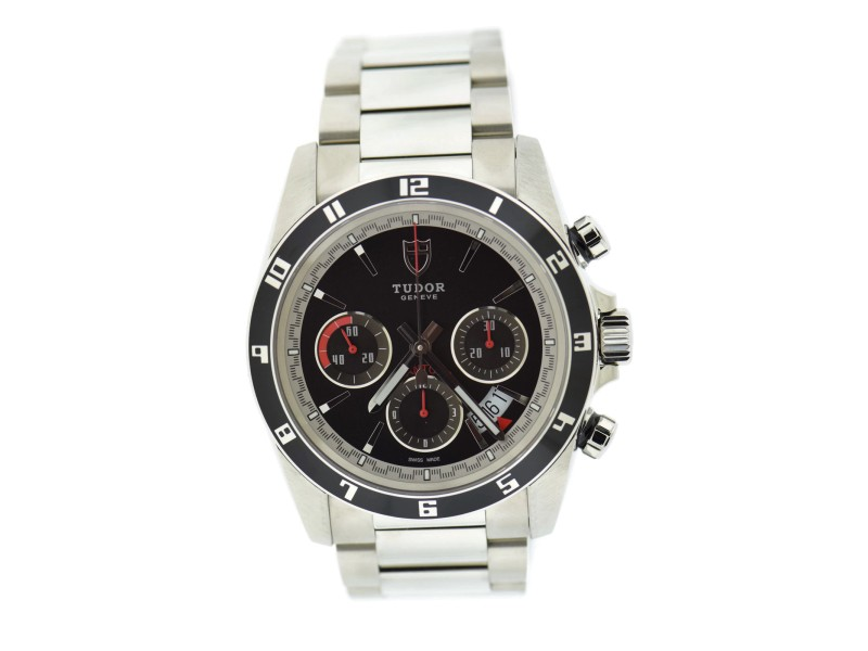 Tudor Grantour 20530N Stainless Steel Black Dial Automatic 42mm Mens Watch
