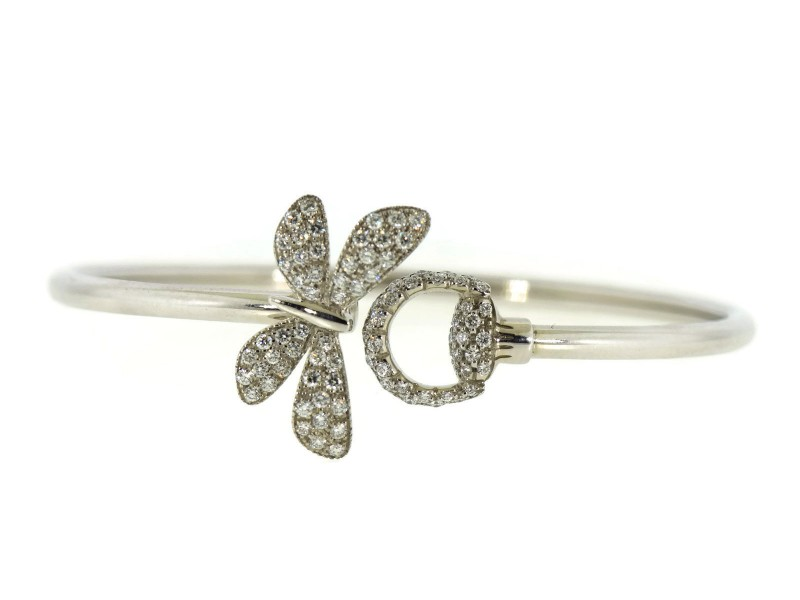 Gucci 18K White Gold Diamond Bracelet