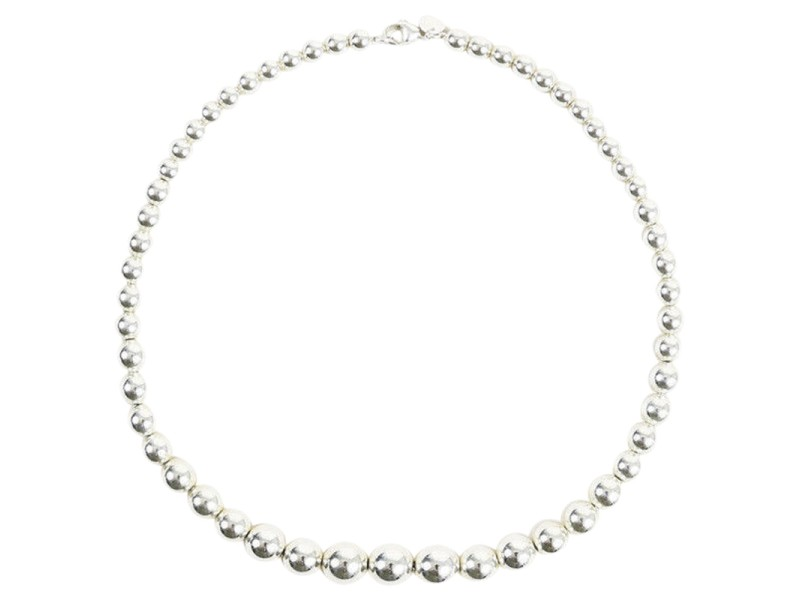 Tiffany & Co. HardWear Sterling Silver Graduated Ball Necklace