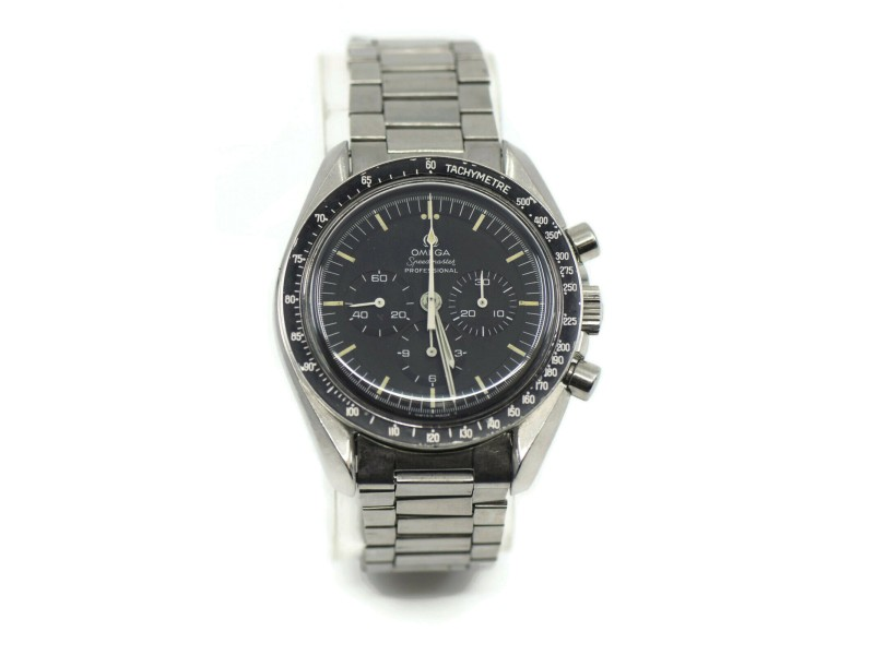 Omega Speedmaster Moon Watch Straight Line Stainless Steel Watch 145022-69ST